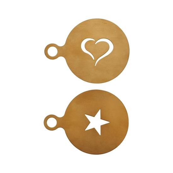 Šablona na kávu COFFEE SET/2 ks zlatá_1