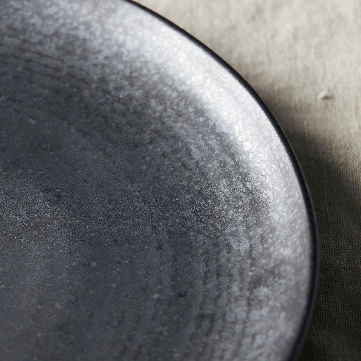 Mělký talíř PION P 21,5 cm černo hnědý_1