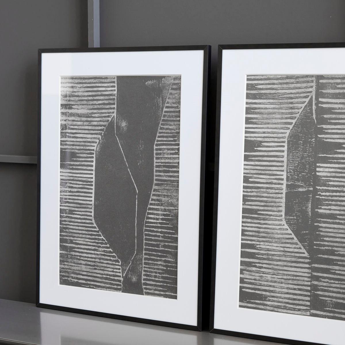 Obraz v rámu FIELDS šedý_0