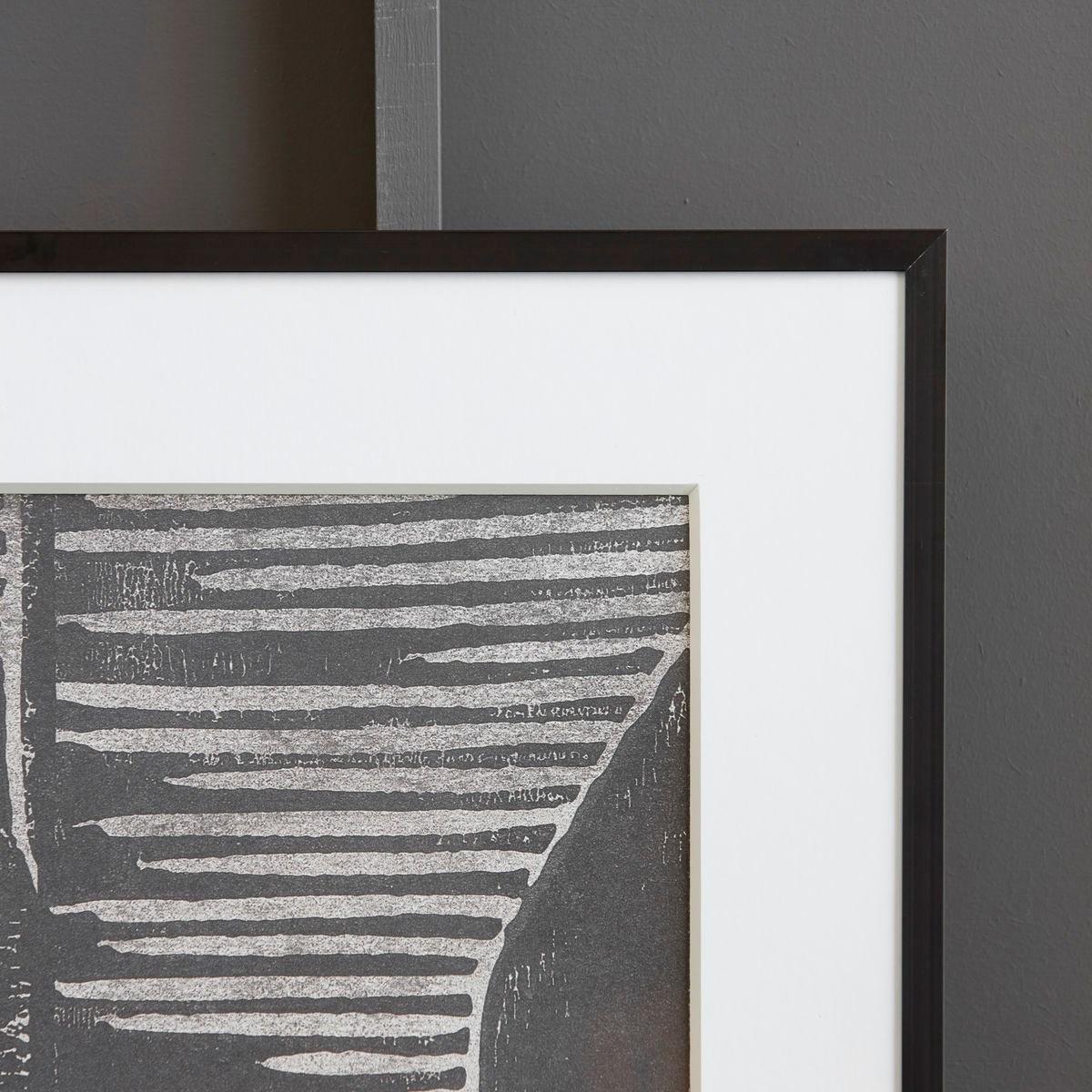 Obraz v rámu FIELDS šedý_1