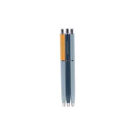Kuličkové pero s černým ink. BALL SET/3 ks modré_0