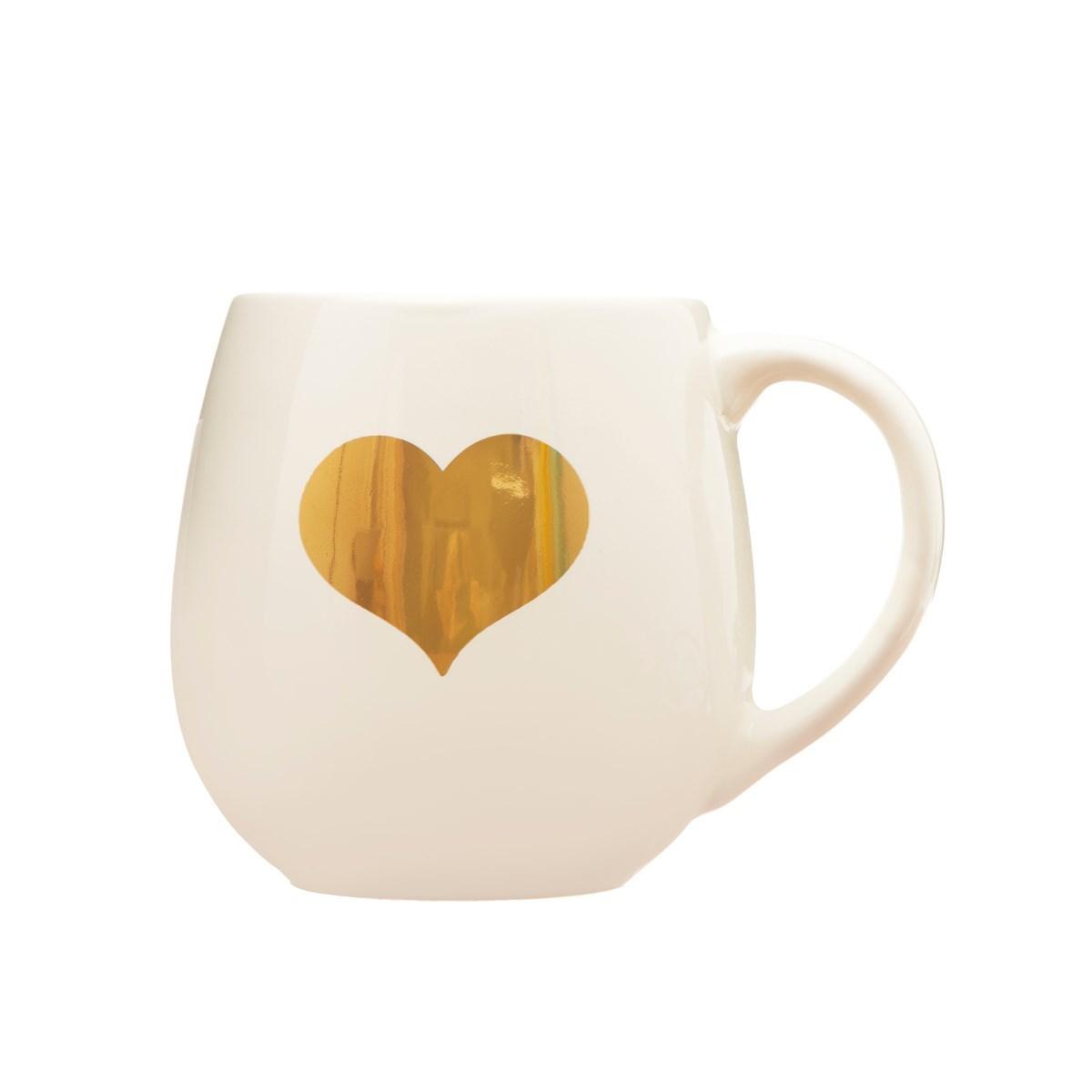 Keramický hrnek Gold Heart_0