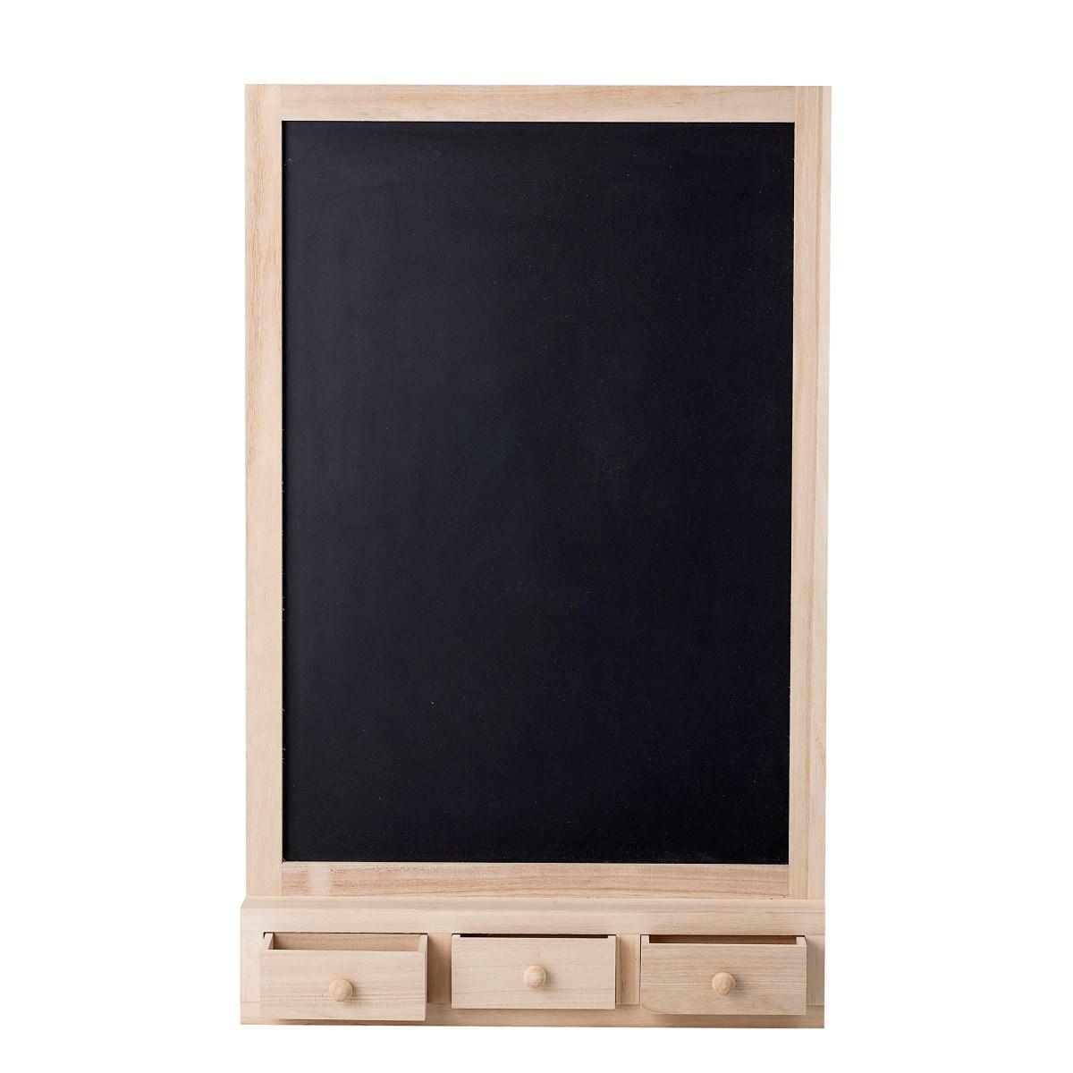 Nástěnná dřevěná tabule se třemi šuplíky_0
