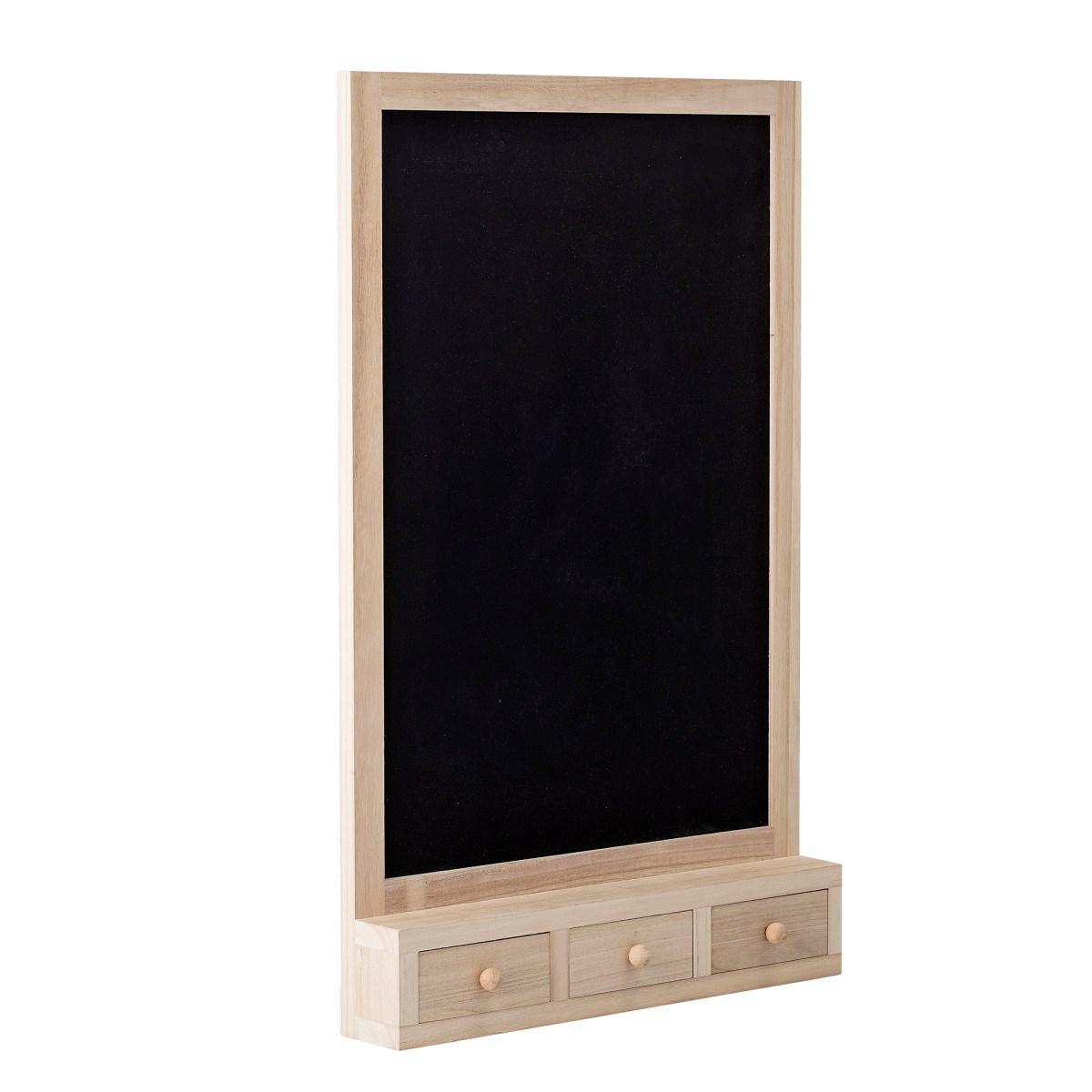 Nástěnná dřevěná tabule se třemi šuplíky_2