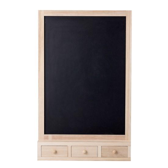 Nástěnná dřevěná tabule se třemi šuplíky_4