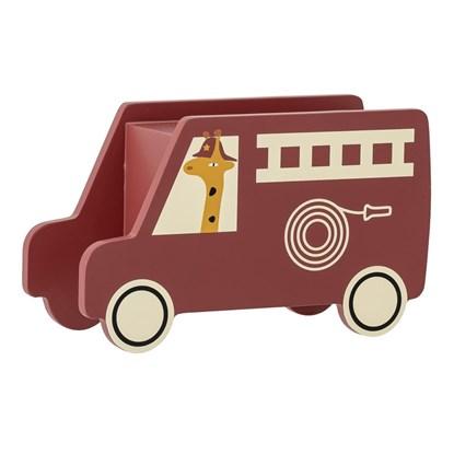 Dřevěná dětská kasička hasičské auto 16xV.9,5 cm_7
