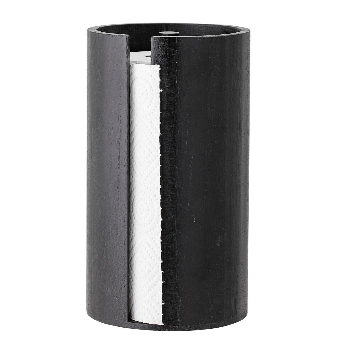 Černý dřevěný stojan na papírové utěrky_0