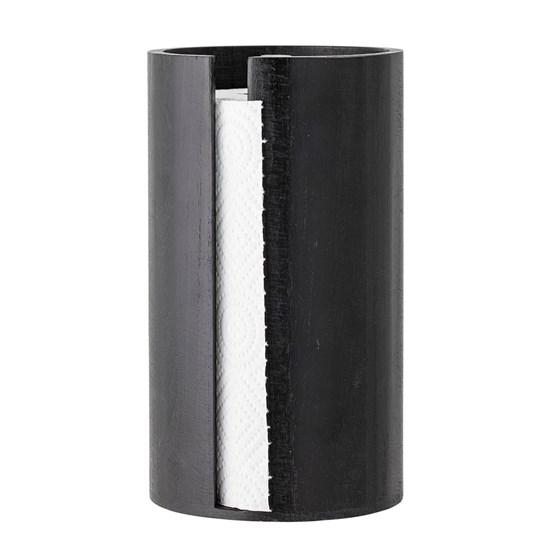 Černý dřevěný stojan na papírové utěrky_3