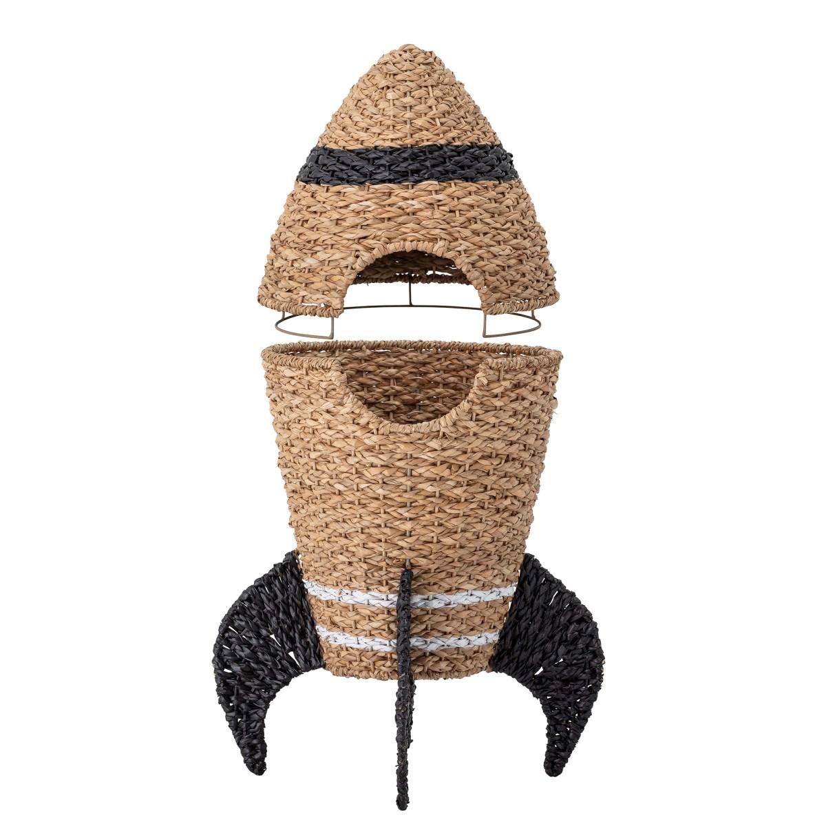 Úložný koš s víkem Cosmina z mořské trávy V.70 cm_1