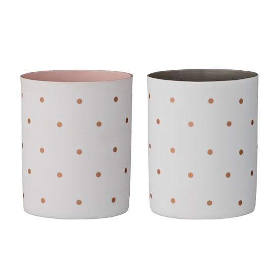 Porcelánové svícny s puntíky O6xH8 cm SET/2ks_0