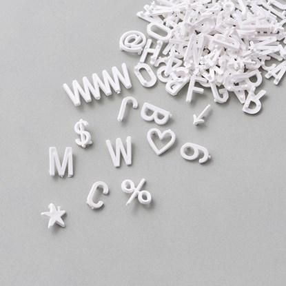 Písmena, číslice a symboly 424 ks bílé_1