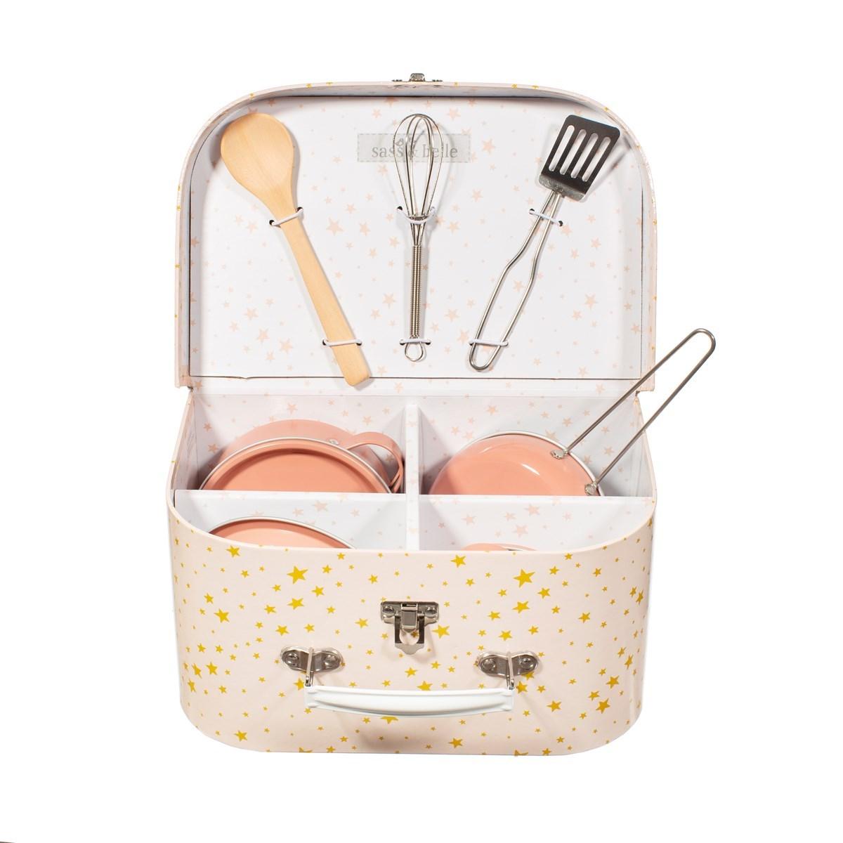 Dětská kuchyňka v kufříku Pastel Pink Play SET/10ks_3