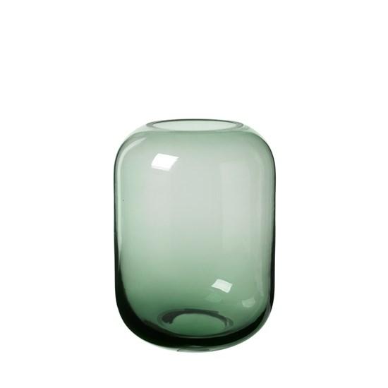 Skleněná váza OVALO 15,5 cm zelená_0