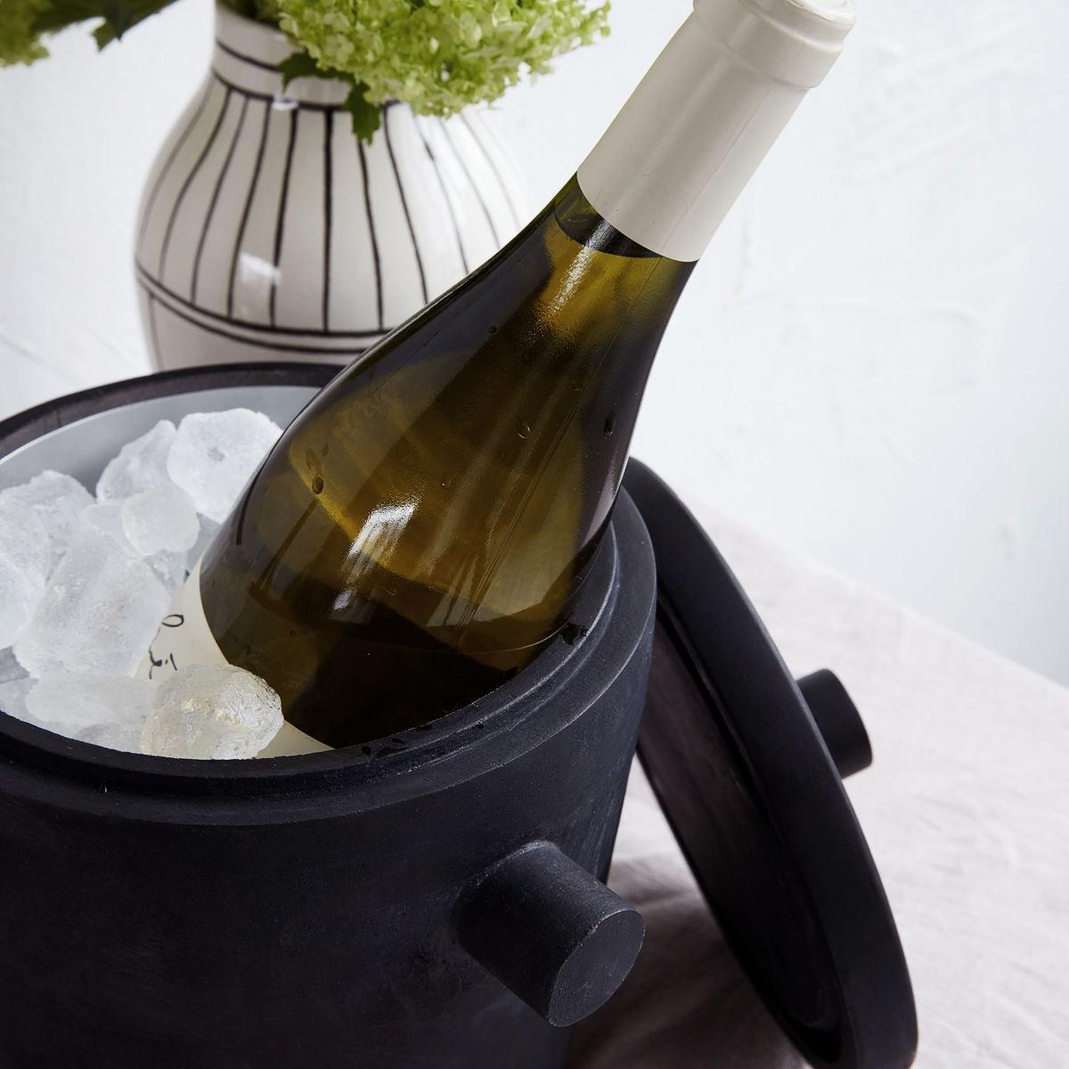 Chladič na víno/ kbelík na led ASK černý_1