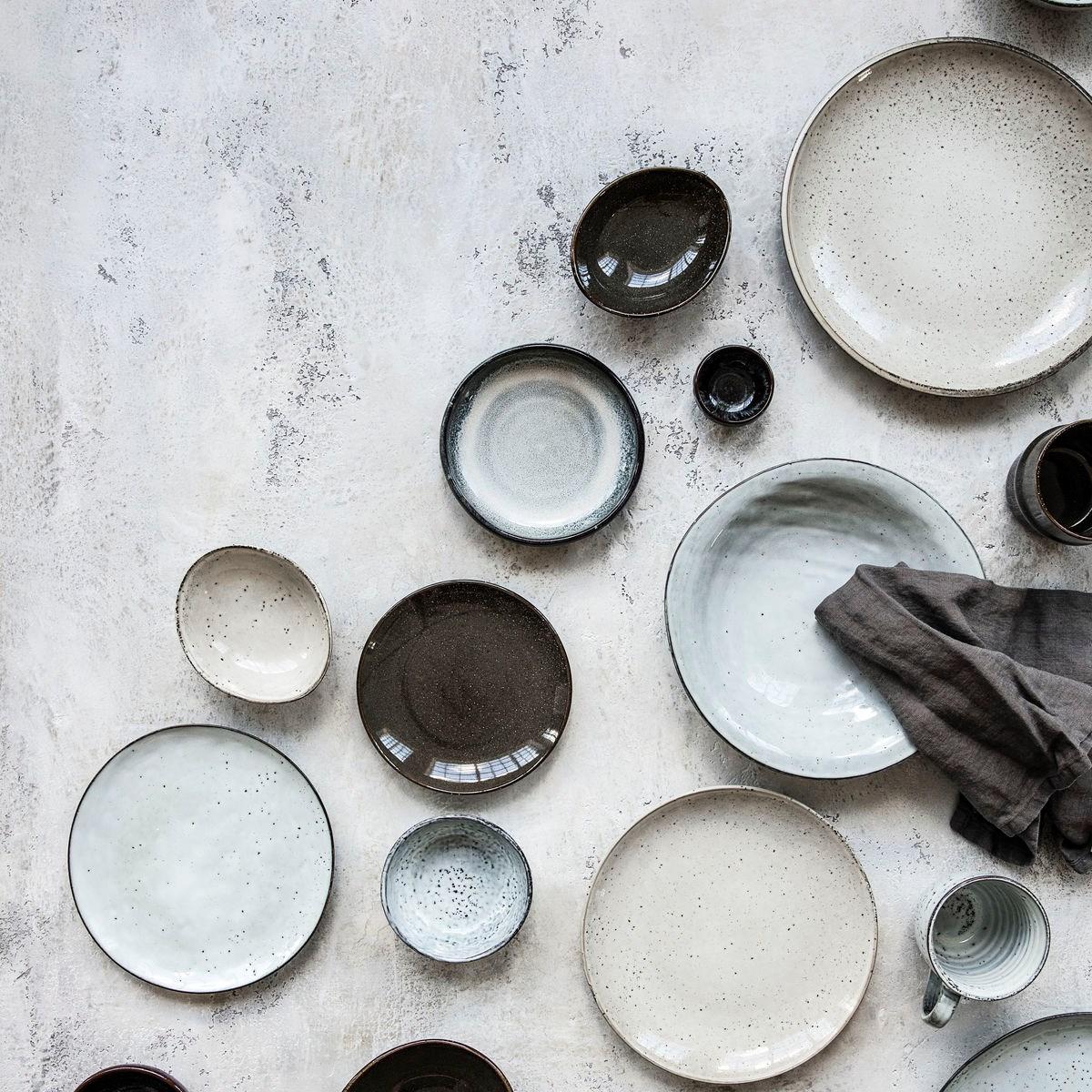 Dezertní talíř RUSTIC 20,5 cm šedo modrý_1