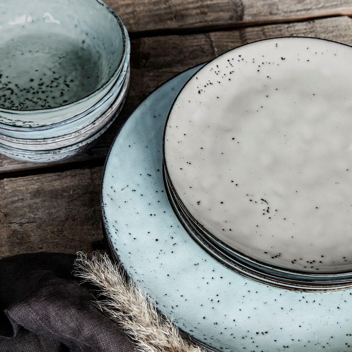 Dezertní talíř RUSTIC 20,5 cm šedo modrý_2