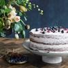 Podnos na dort RUSTIC šedo modrý_1