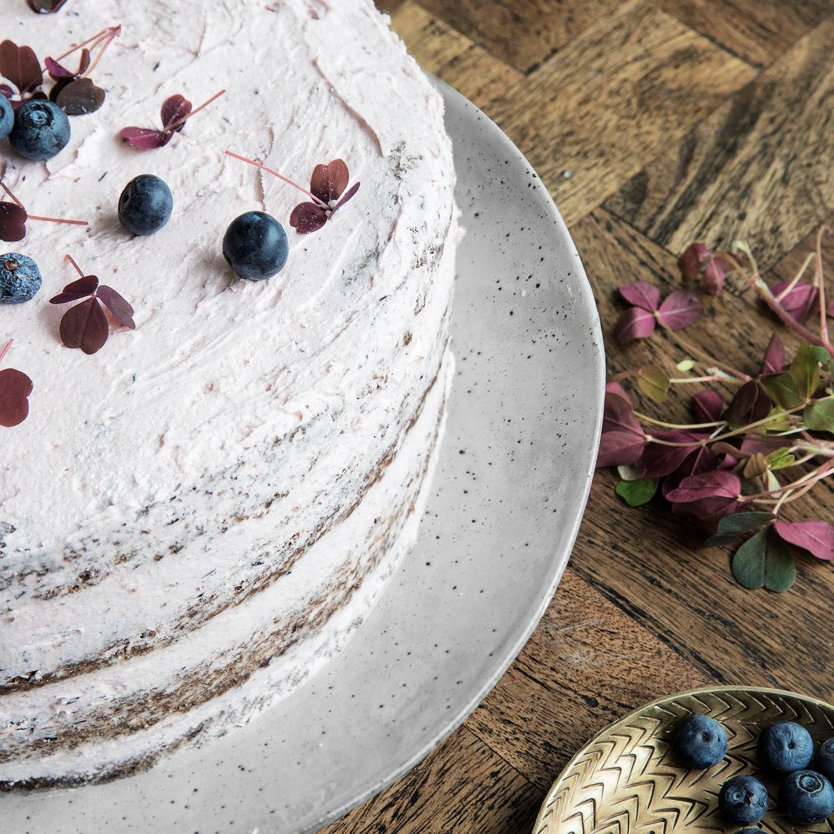 Podnos na dort RUSTIC šedo modrý_2