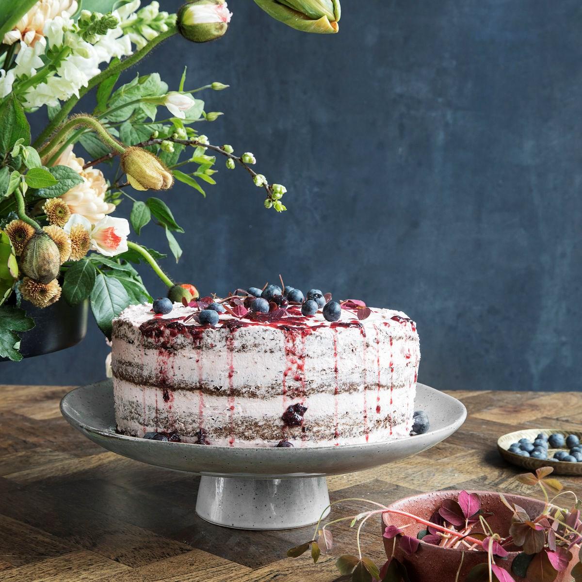 Podnos na dort RUSTIC šedo modrý_3
