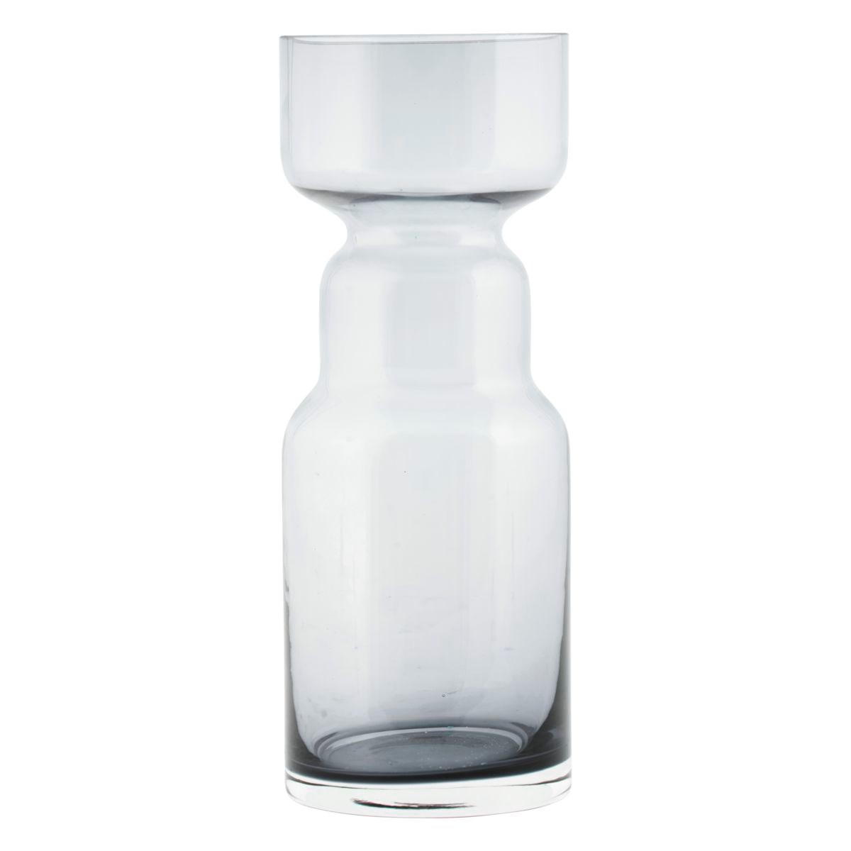 Skleněná váza CINTH kouřově šedá_0