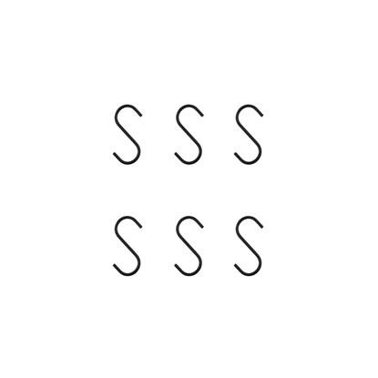 Kovový háček SNAP 6 cm SET/6 ks černý_4