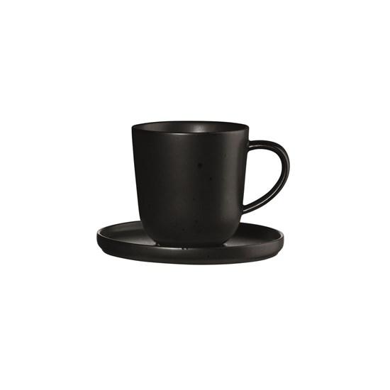 Šálek na espresso s podšálkem COPPA KURO 80 ml_0
