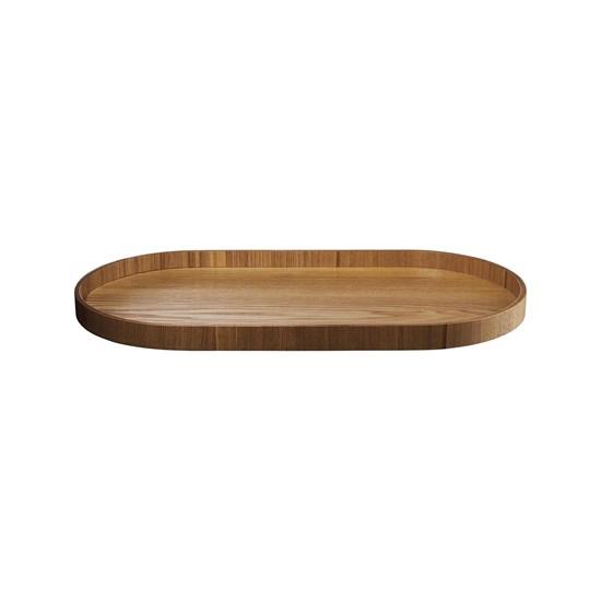 Dřevěný tác SONOKO oválný 44x22,5 cm_3