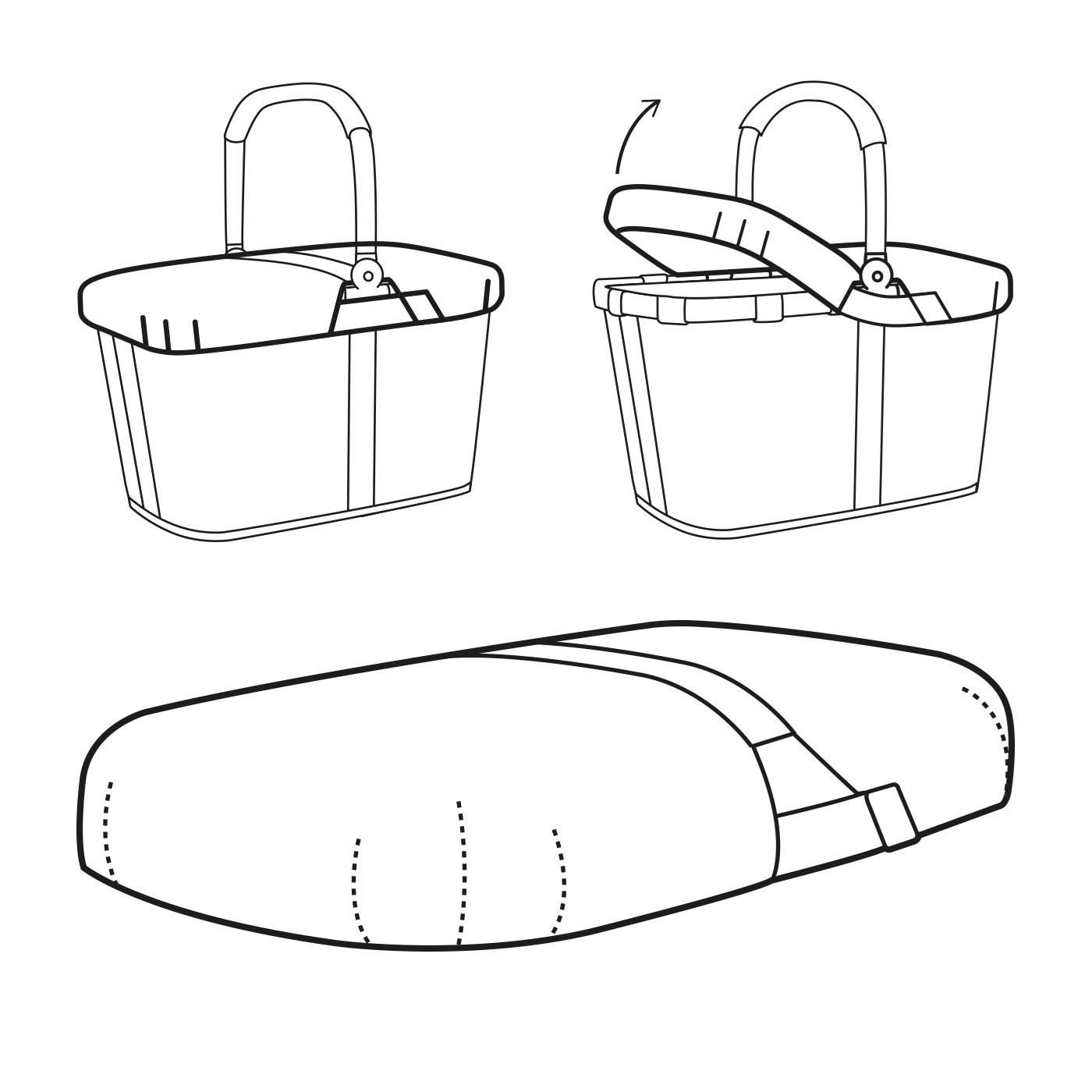 Kryt koše Carrybag navy_1
