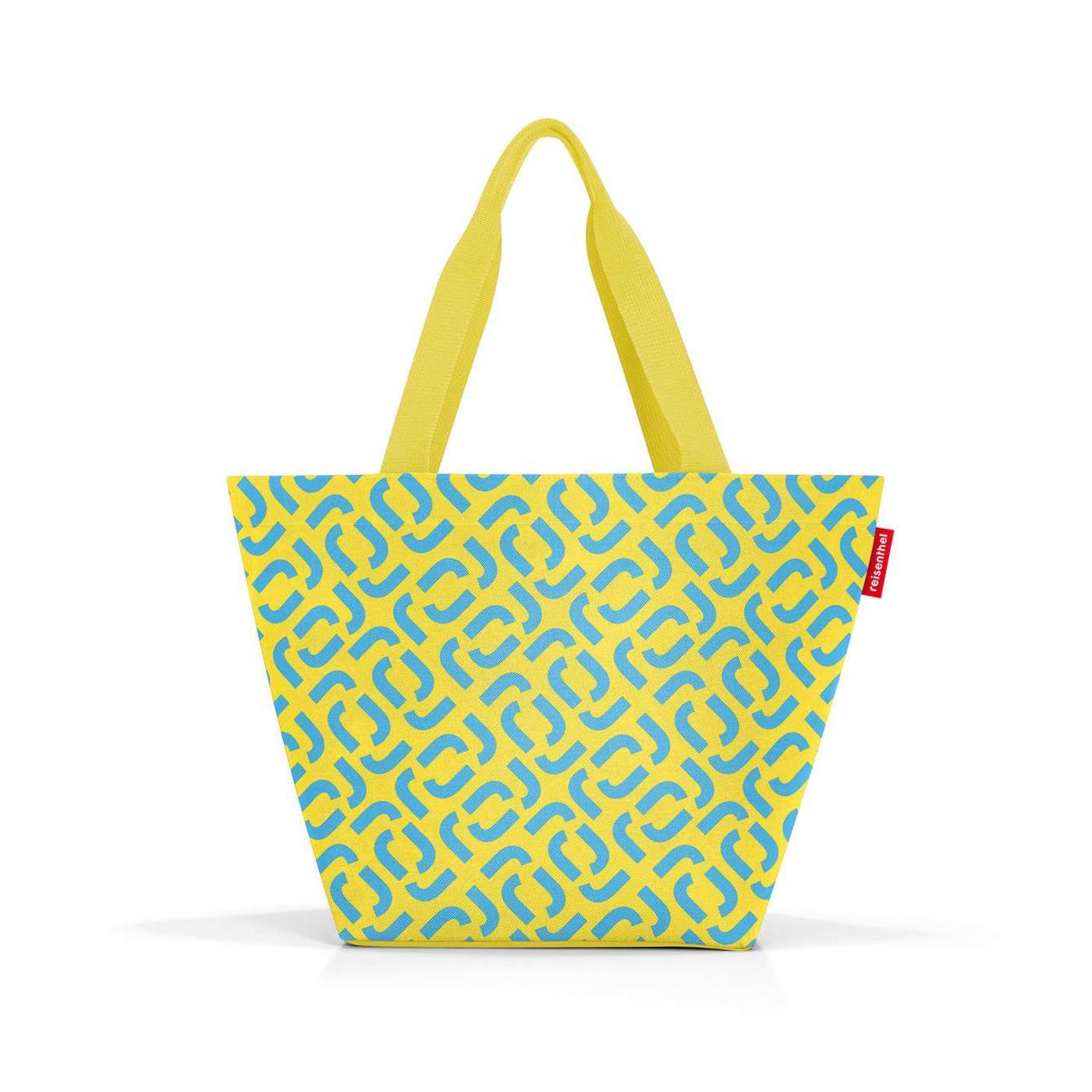 Nákupní taška Shopper M signature lemon_1