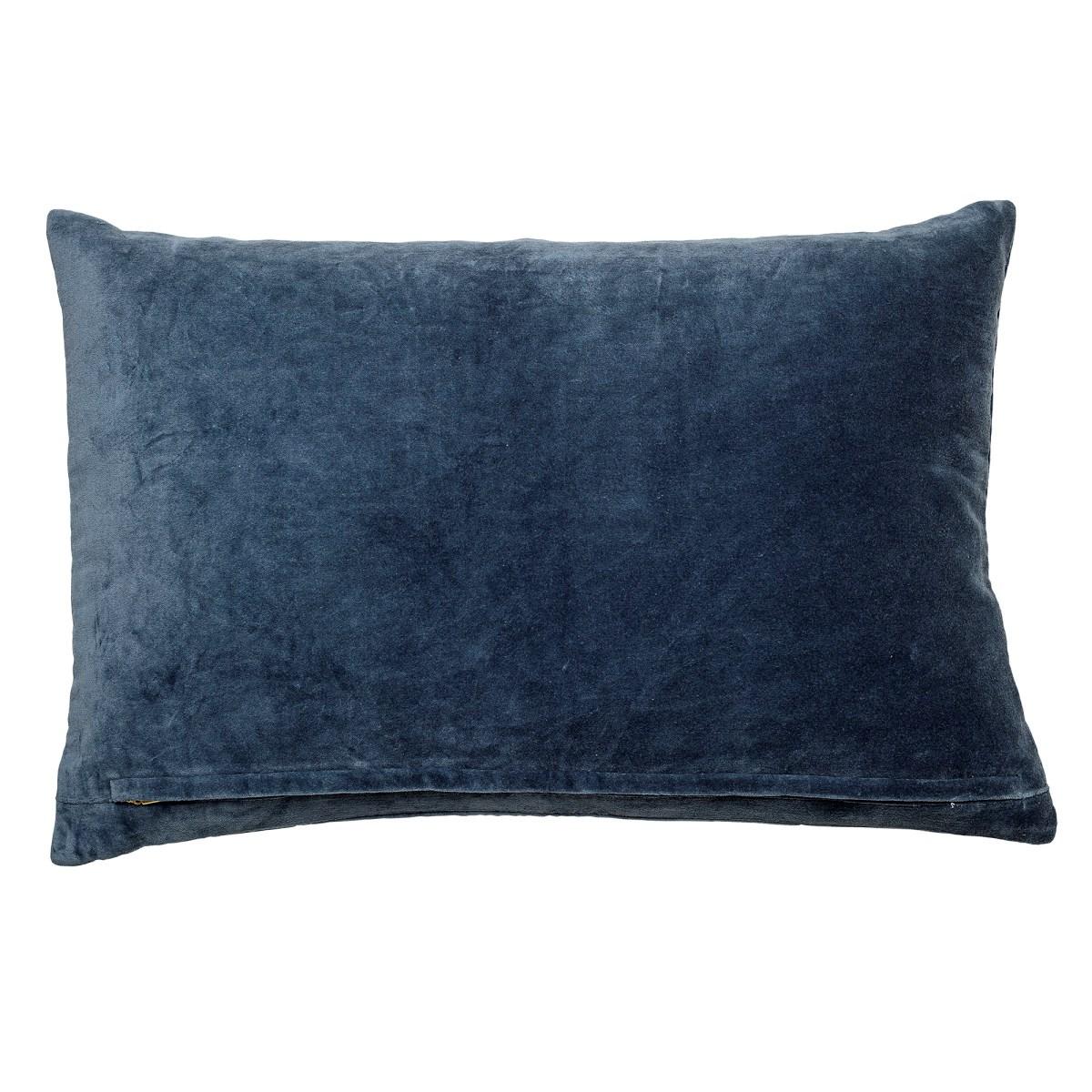Polštář včetně výplně, 60x40 cm - modrý_0
