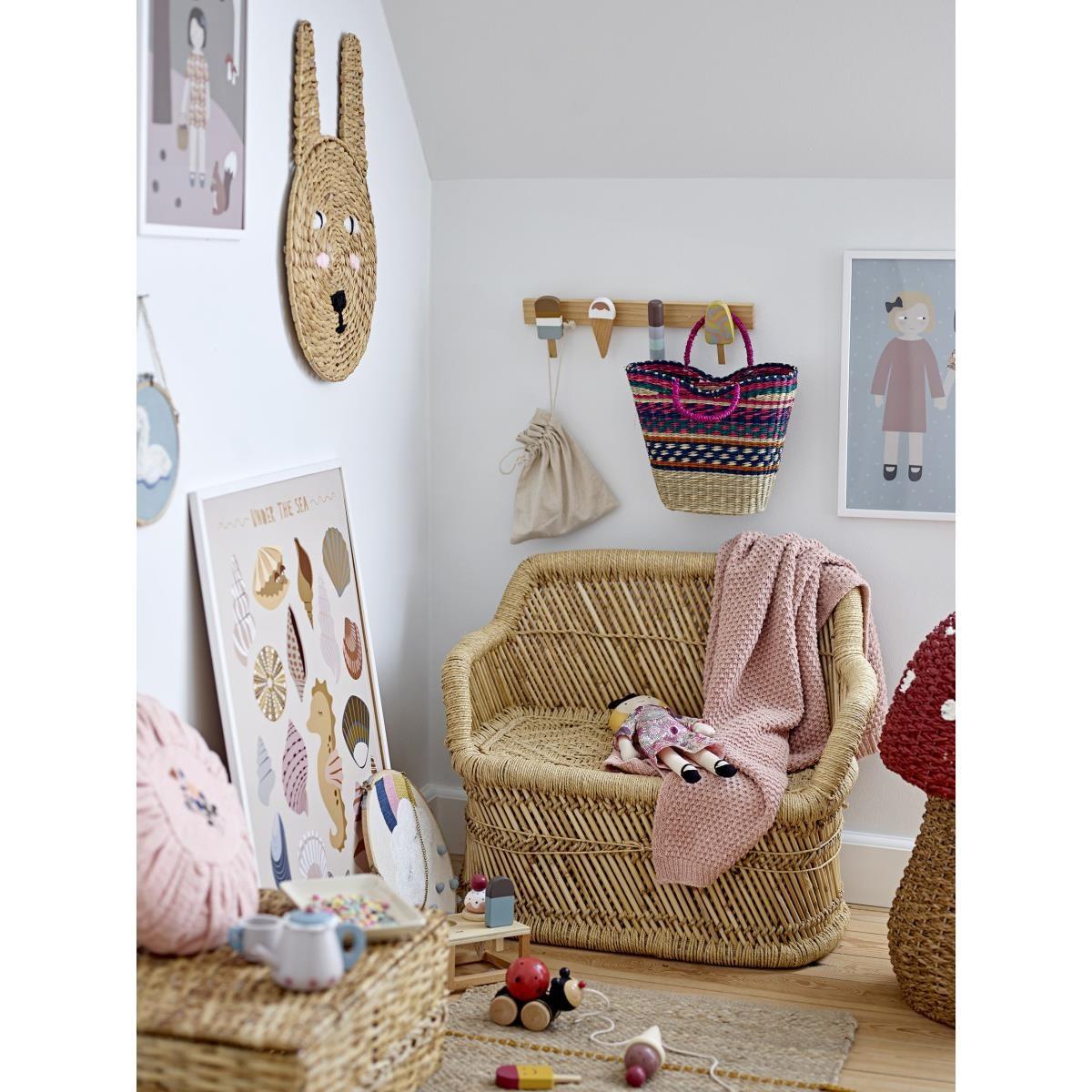 Nástěnná dekorace do dětského pokoje P.28 cm - mráček s duhou_1