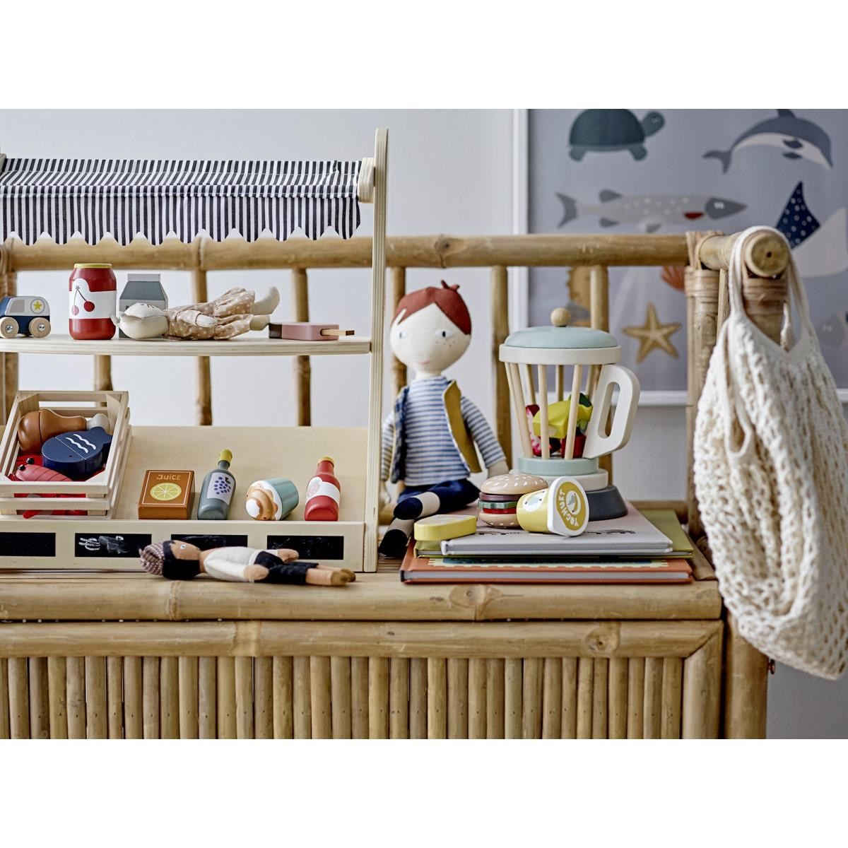 Dřevěný hrací set pro děti MIXER V.20 cm_5