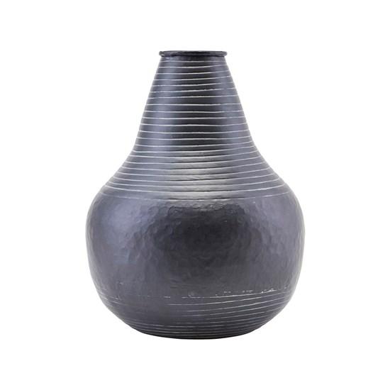 Květináč / váza STRIBE 30 cm černý_2