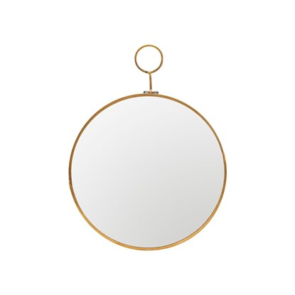 Kulaté zrcadlo LOOP 28 cm mosazné_3
