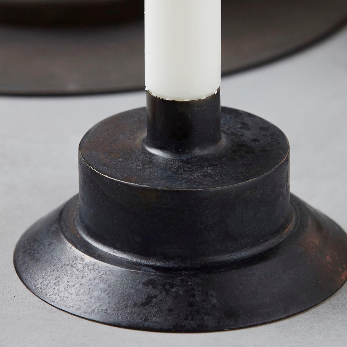 Mosazný svícen LID 10,5 cm antická černá_2