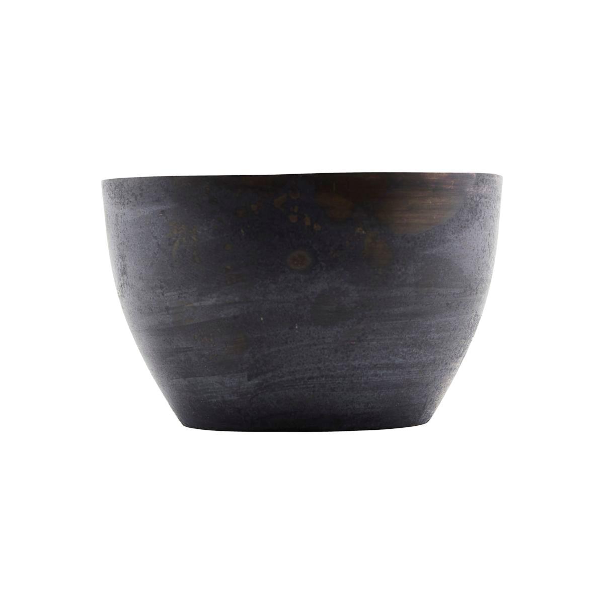 Mosazný svícen ETNIK 10 cm tmavě modrá_1