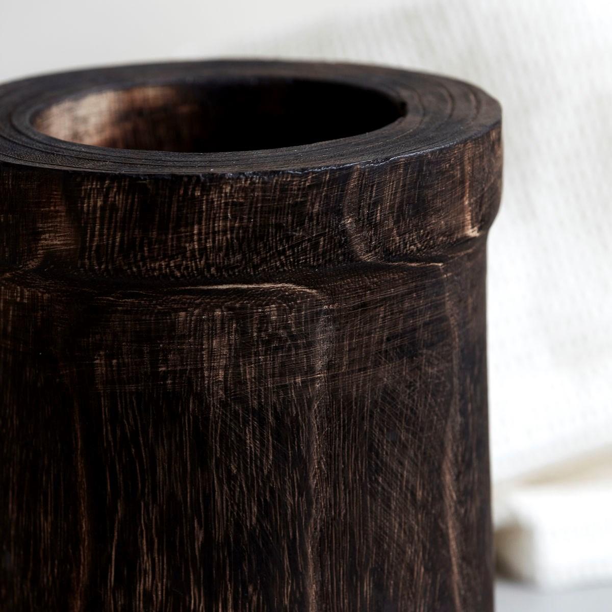 Dřevěná dóza ANAND 21 cm hnědá_2