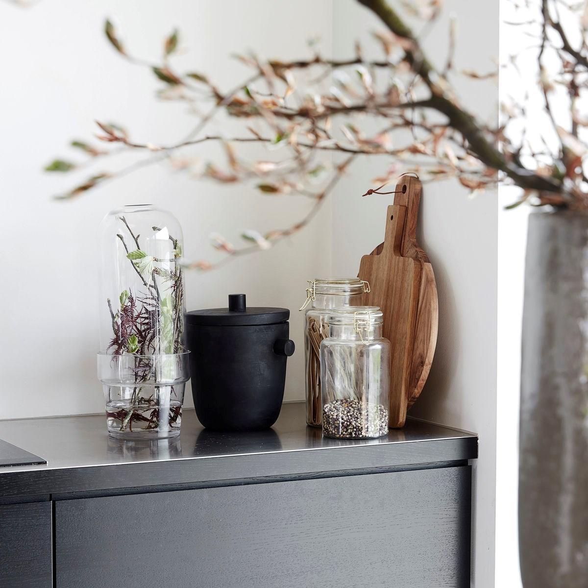 Obrázek z Skleněný zvon s květináčem CLEAR 32 cm