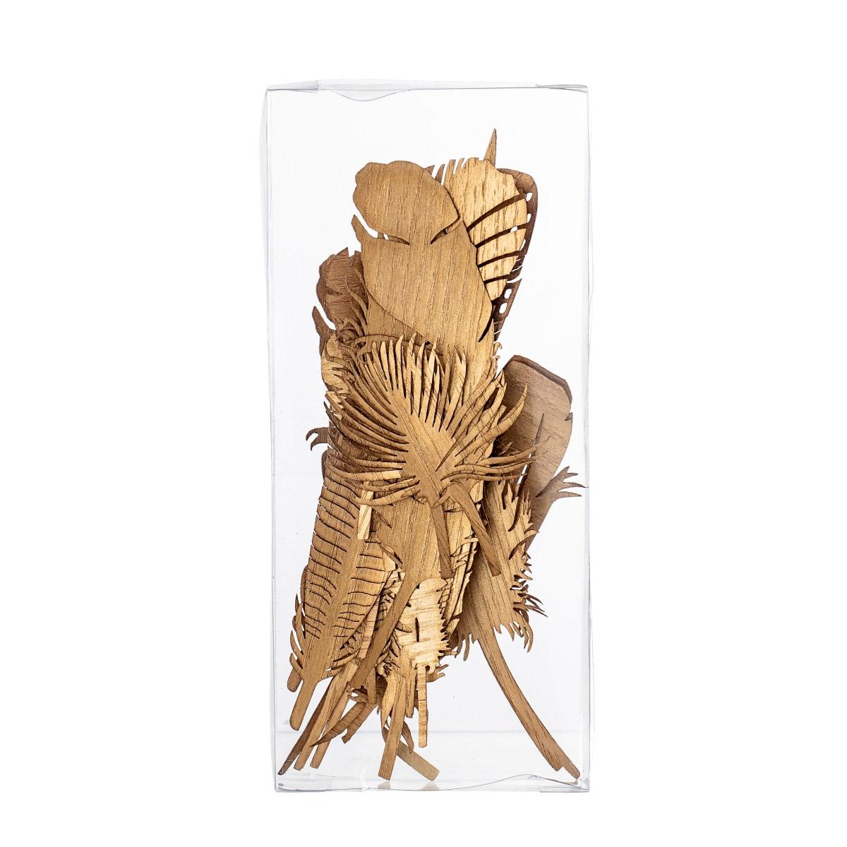 Dekorace pírka Feather SET/22ks zlatá_0