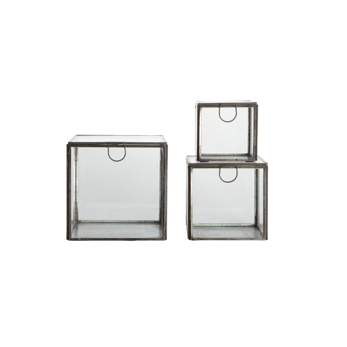 Úložné boxy SET/3 ks černý antik_2