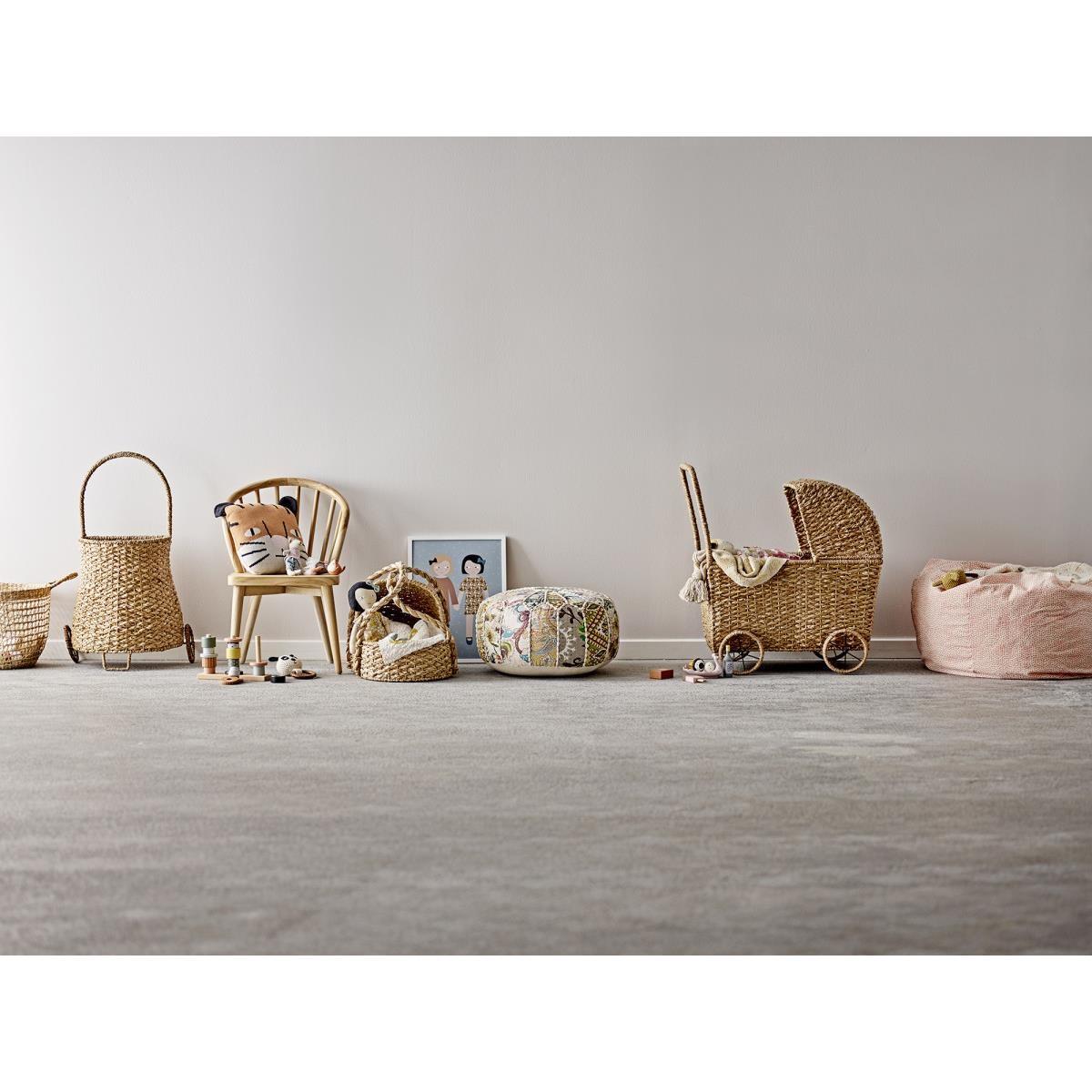 Pléd z recyklované bavlny GUBBER 160x130 cm přírodní / žlutý_1