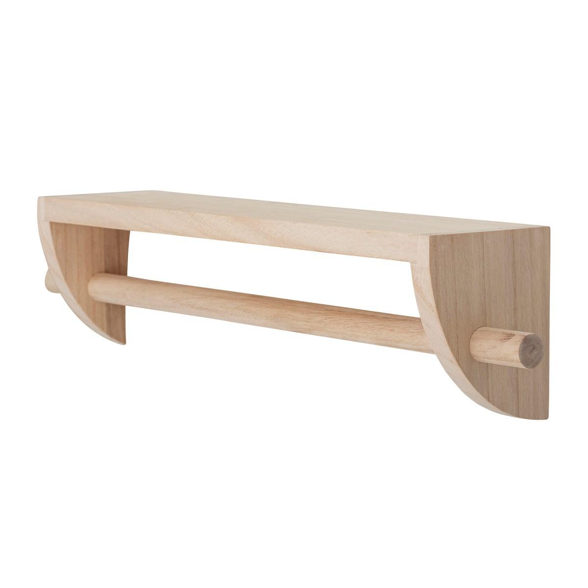 Dřevěná police / věšák Mingus 60 cm_4