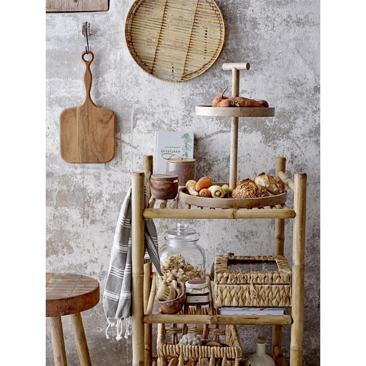 Etažér Bille 2-patrový dřevěný_1