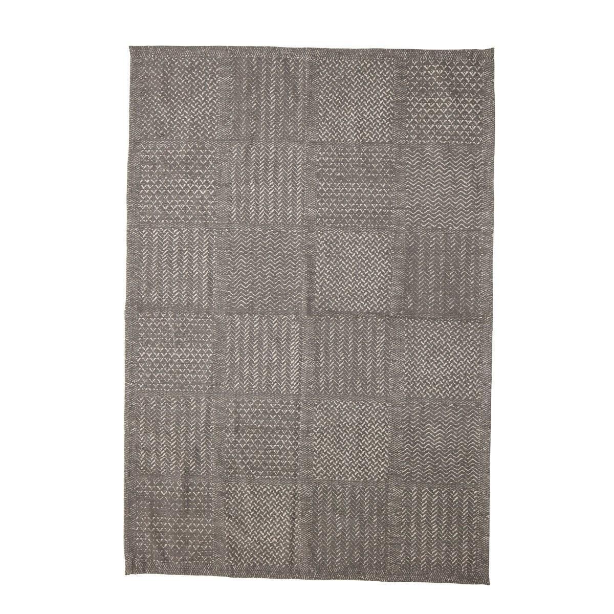 Tkaný koberec Emrah 180x120 cm šedý_0