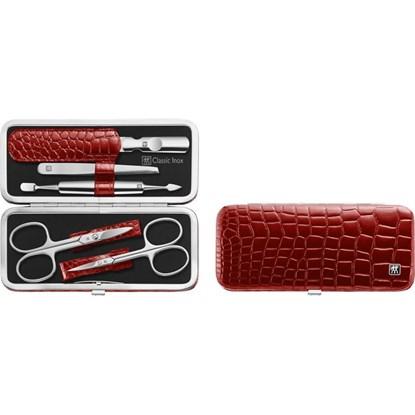Manikúra 5-dílná Classic Inox červená nůžky_1
