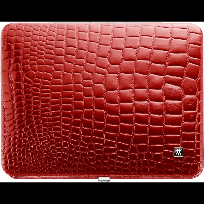 Manikúra 10-dílná Classic Inox červená croco_0