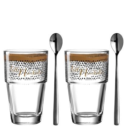 "Sklenička na kávu se lžičkou SOLO "" Latte Mach.""SET/2ks_1"