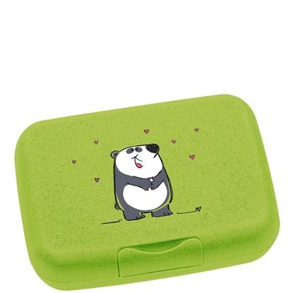 Box na svačinu BAMBINI zelený / panda_0
