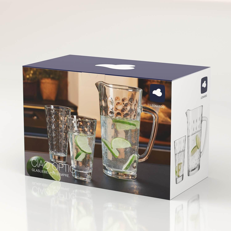 SET sklenice + džbán OPTIC SET/5ks_1