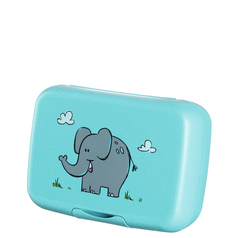 Box na svačinu BAMBINI tyrkysový / slon_1